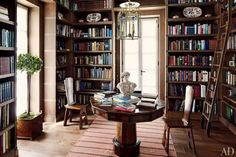 Dream library - especially with the table in the middle.