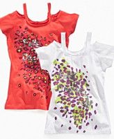 Baby Phat Kids T Shirt, Little Girls Cold Shoulder Tee