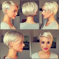 Finally went to the hair doctor! not that easy to grow out a pixie  ...but love the new color!  #platinumblonde #blondeshorthair #pixiecut #girlswithshorthair #blondie #kurzehaare #growoutyourhair #khfis #shorthair @shorthair_love