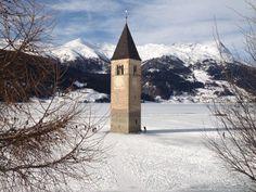 Reschensee-Lago di Resia, Italy
