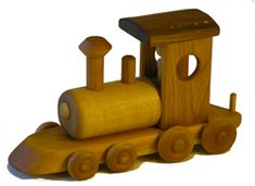 wooden toy train locomotive