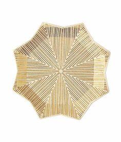 Guld stjerne canapé tallerkener fra Meri Meri
