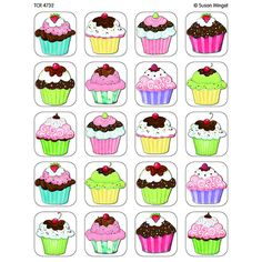icu ~ Cupcakes Stickers from Susan Winget - Thema cupcakes, Thema taarten en School verjaardag ~ Discrimination visuelle: retrouver les paires Cupcake Drawing, Cupcake Art, Cupcake Illustration, Diy And Crafts, Paper Crafts, Memory Games For Kids, Cake Games For Kids, Teacher Created Resources, Food Illustrations