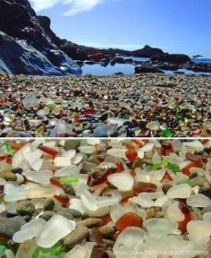 Glass Beach ~ Fort Bragg, California ~ This is just so beautiful.