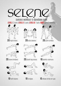 Selene Workout - Battling vampires and werewolves requires more than just average physical skills which is why the Selene workout requires more than average willpower to get through. As long as you remember not to workout in tight leather gear you will fi Hero Workouts, At Home Workouts, Workout Routines, Motivation Yoga, Superhero Workout, Physical Skills, Darebee, Yoga Fitness, Fitness Plan