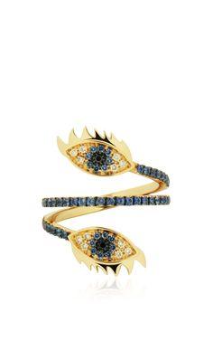 Marry Me Double Eye Ring by Delfina Delettrez - Preorder now on Moda Operandi