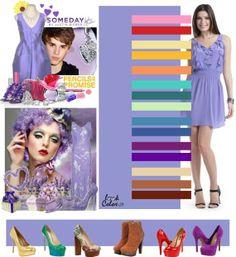 color lila combinaciones