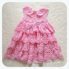 LINDA DRESS Special Occasion Baby Dress Crochet Baby
