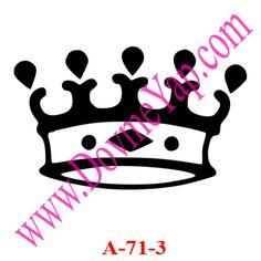 Kral - Kraliçe Tacı Geçici Dövme Şablon Örneği Model No: A-71-3