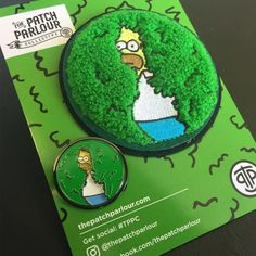 green simpsons pin and patch Cute Patches, Pin And Patches, Jacket Pins, Mein Style, Cool Pins, Metal Pins, Pin Badges, Lapel Pins, Pin Collection
