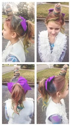 Crazy Hair Day At School For Girls