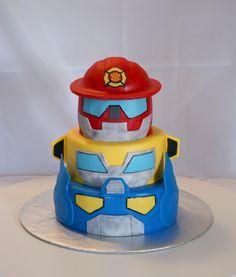 Rescue Bots Cake #cakesbymeg