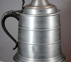 Vintage 1960s Made In Italy Pewter Beer Stein Ice Bucket Olde Tankarde