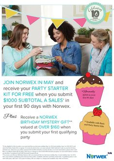 Join Norwex in May with these Amaaaazing Incentives | SustainableSuburbia.net