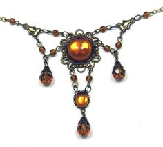 VICTORIAN Vintage Style NECKLACE and by UniqueCreations1111