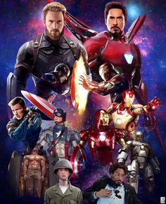 Captain America / Steve Rogers and Iron Man / Tony Stark Evolution throughout Marvel Cinematic Universe