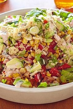 16 Pioneer Woman Recipes You Can Make in 16 Minutes via pioneer tacosalad FOOD NETWORK CHICKEN TACO SALAD@PureWow