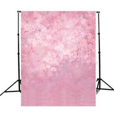 5x7ft Rosa Fondo de la fotografía del vinilo de la flor Pared Backdrops de la foto Accesorios del estudio