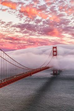 Heavenly sunset over the Golden State Bridge, San Francisco