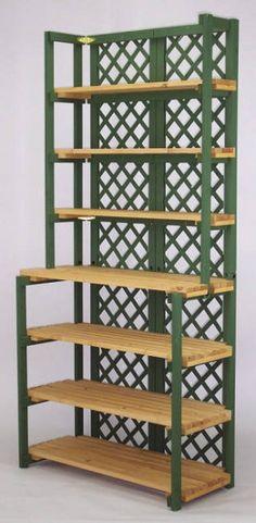Folding Display Shelves | Folding Shelf Hutch - 7 Shelves - Frame Color Choice