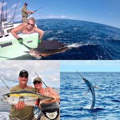 6 Tuna & 1 Sailfish for Terry & Tina from California yesterday aboard GOOD DAY fishing in Costa Rica! Heading on a Billfish mission today with our guests from Sweden! Another tag deployed for Gray FishTag Research Quepos, Sport Fishing, Good Day, Tuna, Costa Rica, Sweden, California, Gray, Sports