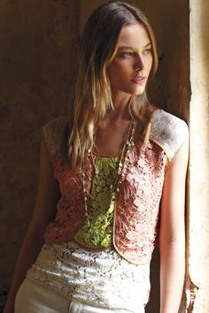 #PatchworkLaceShell #Anthropologie  So pretty!  I LOVE this store:)