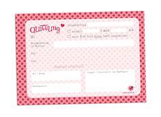 Weiteres - Quittungsblock Quittung A6 50 Blatt rosarot 2x - ein Designerstück von millimi bei DaWanda