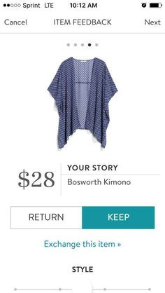 I like this kimono. Love the navy background but would like it even better with some springy colors on it.