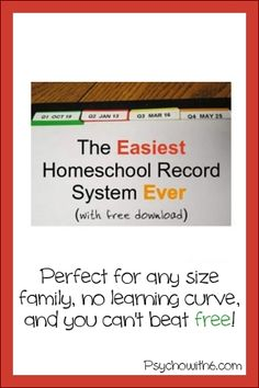 easiest homeschool record system