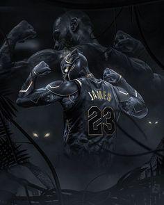 Black Panther #caricature #basketball #nba #nbaart #james #lebron #lebronjames #blackpanther