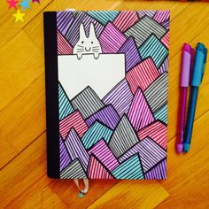 Fonts Handwriting Discover Your place to buy and sell all things handmade Items similar to CUSTOM ORDER Hand made diary/notebook with a cute bunny on the cover on Etsy Bullet Journal Writing, Bullet Journal Ideas Pages, Bullet Journal Inspiration, Junk Journal, Doodle Art Drawing, Cool Art Drawings, Easy Drawings, Diary Cover Design, Diary Covers