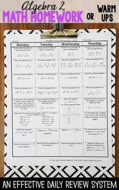 algebra 1 spiral review algebra 1 homework or warm ups algebra rh pinterest com