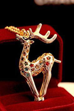 Deer Pendant Necklace