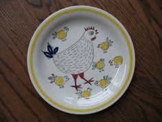 Rorstrand Sweden Marianne Westman Plate PIP by SomethingofInterest, $40.00