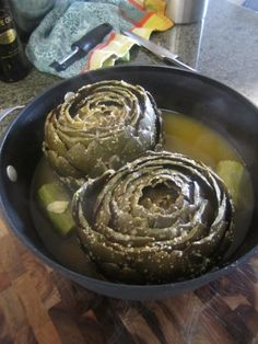 Mom's Artichokes! « Soul Food Blog filled with ideas and recipes. Well worth a look.