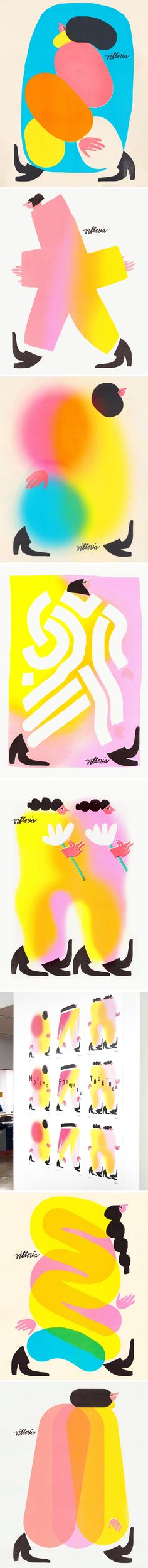 The Jealous Curator /// curated contemporary art Colorful Artwork, Colorful Decor, Happy Socks, Female Images, Jealous, Bold Colors, Some Fun, Art Drawings, Contemporary Art