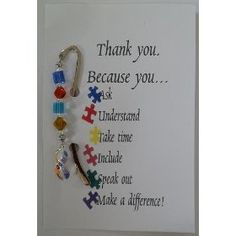 Autism Awareness Beaded Bookmark #autism #awareness