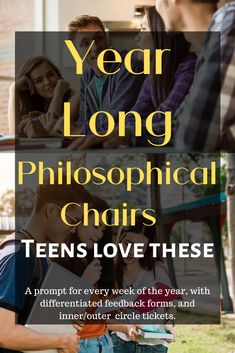 Year Long Ultimate Philosophical Chairs Activity for Every Week (AVID) English Teaching Resources, Reading Resources, Teacher Resources, Classroom Resources, English Lesson Plans, English Lessons, Teacher Portfolio, Portfolio Ideas, Teaching Writing