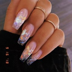 top latest glitter acrylic nail art designs ideas for long nails 42 Related Best Acrylic Nails, Summer Acrylic Nails, Summer Nails, Best Nails, Acrylic Art, Long Nails, My Nails, Short Nails, Long Almond Nails