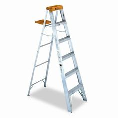 6 ft Aluminum Louisville Folding Step Ladder with 225 lb. Rolling Ladder, Wood Steps, Back Bar, Plastic Molds, Paint Cans, Home Improvement, Home And Garden, Ladders