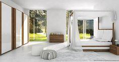 Minimalizm w czystej postaci. Poznaj nas na: http://rozowacegla.blogspot.com #minimalizm #inspiracje #sypialnia z #widokiem #wnętrza ze #smakiem