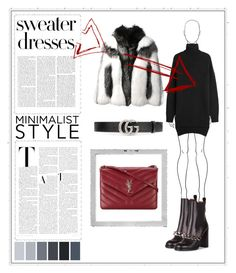"""""""Contest: sweater dresses"""" by emma-lekander on Polyvore featuring Gucci, Givenchy, Isabel Marant, Alexander McQueen, Polaroid and Yves Saint Laurent"""