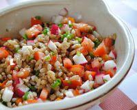 Cantinho+Vegetariano:+Salada+de+Cevadinha+com+Tomate+e+Rabanete+(vegana)...