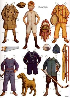 Little Busybodies Paper Dolls by Frances Tipton Hunter - page 3 of (6)