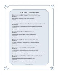 Wisdom in Proverbs {free printable} and discussion on seeking wisdom