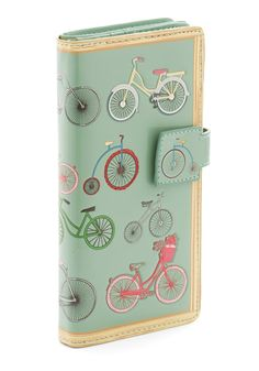 Knows How to Have Fund Wallet. Youve got an affinity for action, whether that includes riding your bike around the neighborhood or whipping out this bicycle-printed wallet on an adventurous shopping trip into town. #mint #modcloth