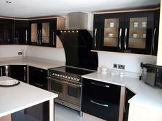 Kitchen, Unique Black Cabinets Also High Tech Kitchen Gadget And White Countertop Design Idea ~ Futuristic Kitchens with High Tech Gadgets