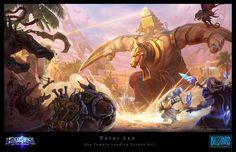 Heroes of the Storm Loading Screen, Peter Lee on ArtStation at https://www.artstation.com/artwork/PYLGr