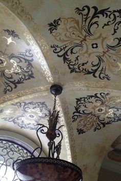 Stenciled barrel ceiling
