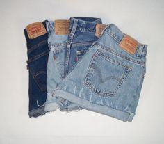 Levi High Waist Shorts READY TO SHIP Custom Made Choose Your Size. $27.00, via Etsy.